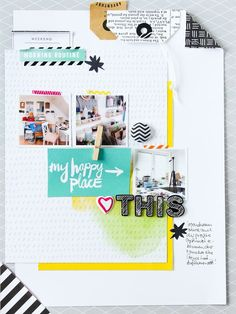 #papercrafting #scrapbook #layout idea: by Janna Werner