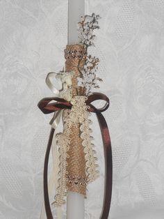 Δαντελενια και Κομψη!!!!!!! Easter Crafts, Easter Ideas, Candels, First Communion, Candle Sconces, Easter Candle, Projects To Try, Wall Lights, Christmas Trees