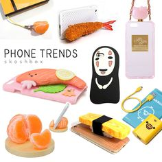 A look at some of the new phone trends in Japan. Realistic food is still a crowd favorite, and the character goods are stepping up their game! #japan