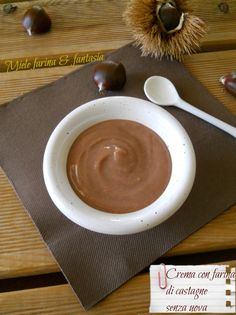Crema dolce senza uova con farina di castagne.Ricetta base