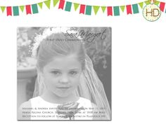 First Communion Invitation Communion Party First by HDInvitations