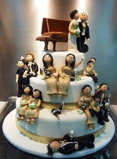golden wedding anniversary cake. I love this idea