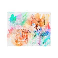 Ballet Watercolor Canvas