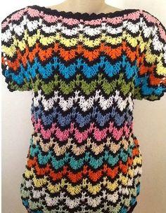 Receita de Tricô: Blusa em tricô