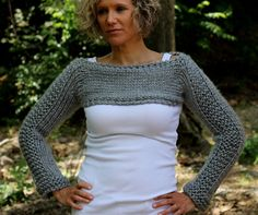 Sale REDY To SHIP Hand Knit Spring Summer Cropped by KnitPlayLove