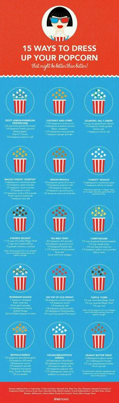15 Ways To Dress Up Your Popcorn ! #Food #Drink #Musely #Tip