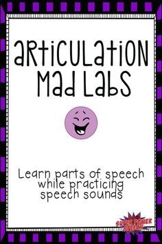 This is such a fun activity for upper elementary and middle school speech students!!