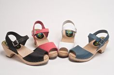 Take a look at our Sundial Sandals, which come in Black, Blue, Pink, Tan and White.