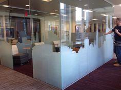 Sunray Custom Decorative Film Install - (City of Downtown Cleveland) - 3M Fasara Milano - Wells Fargo - Cleveland Ohio
