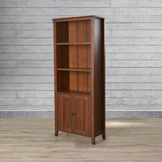 Chappel 2 Door Wardrobe & Reviews | Birch Lane Solid Wood Shelves, Decor, Wood Shelves, Furniture, Bookcase, Trent Austin Design, Home Furniture, Tall Bookcases, Home Decor