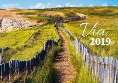 Nástěnný kalendář VIA 2019 Vineyard, Country Roads, Outdoor, Outdoors, Outdoor Games