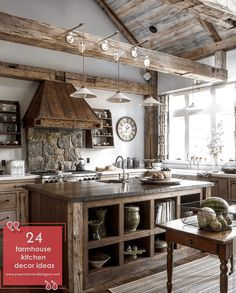 The rustic cottage kitchen of your dreams. The rustic cottage kitchen of your dreams. Kitchen Fan, Home Decor Kitchen, Kitchen Ideas, Kitchen Dining, Cottage Kitchens, Modern Farmhouse Kitchens, Farmhouse Decor, Rustic Country Kitchens, Farmhouse Lighting