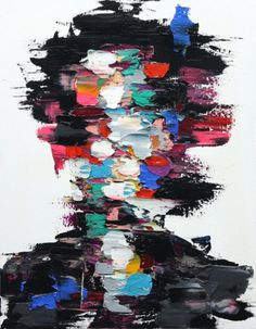 Abstract Paintings- I love the thick layers of paint here