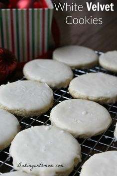 White Velvet Cookies are a delicious cookie. Moist and soft, these cookies while the perfect addition to your Christmas cookie tray.
