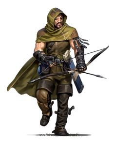m Ranger Leather Armor Cloak Longbow Sword lvl rpg settings : Photo Fantasy Male, Fantasy Armor, Medieval Fantasy, Dungeons And Dragons Characters, Dnd Characters, Fantasy Characters, Character Concept, Character Art, Character Design