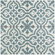 "Alameda 17.63"" X 17.63"" Ceramic Field Tile in Blue"