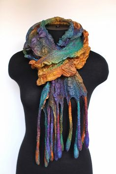 Nuno Felted Scarf by FeltedPleasure, via Flickr