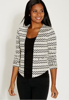 blazer in chevron textured fabric (original price, $44) available at #Maurices