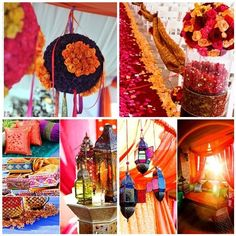 Mehndi or sangeet decor. Morroccan lanterns always work. | The Maharani Diaries