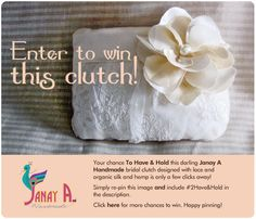 WIN IT! Have & Hold this Darling Clutch- #Giveaway #Contest #2Have