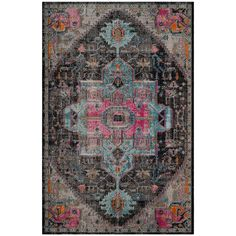 Shop Safavieh Artisan Black and Light Grey Area Rug at Lowe's Canada. Find our selection of area rugs at the lowest price guaranteed with price match. Dark Grey Rug, Black Rug, Gray, Ancient Persia, Decoration Inspiration, Rug Inspiration, Berber, Gris Rose, Chiffon
