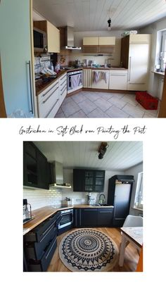 Paint kitchen and renovate Kitchen Cabinets Pictures, White Kitchen Cabinets, Painting Kitchen Cabinets, Kitchen Paint, Diy Kitchen Island, Kitchen Rug, Kitchen Curtains, Kitchen Decor, Spacious Living Room