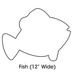 1000 Ideas About Fish Template On Pinterest