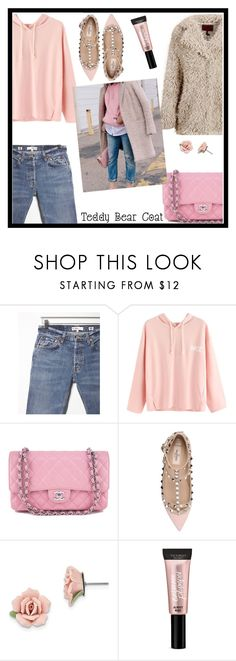 """""""Snuggle Up: Teddy Bear Coats"""" by tlb0318 ❤ liked on Polyvore featuring RE/DONE, Chanel, Valentino, 1928 and Victoria's Secret"""