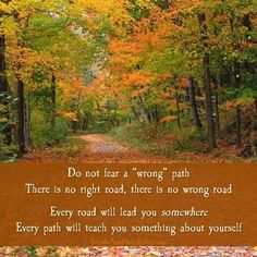 Never a wrong road...