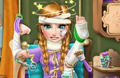 Frozen Anna Hospital Recovery game. Frozen Anna Hospital Recovery is a free game for girls that you can play right now online using your web browser. So learn the story first to better understand why Anna needs your help. Anna injured herself while going for a very long walk in the mountains with reindeer Sven, now you must go to the emergency room and take care of her.