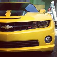 Bumblebee Chevrolet Camaro the only Chevy I'd ever willingly drive!