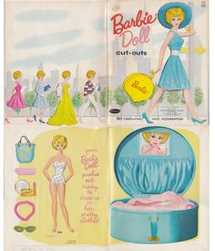 Barbie paper doll set. I want 2 copies of these so bad!! (1-to cut out  1-to cut out and play with!)