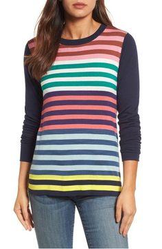 Main Image - Halogen® Colorblock Stripe Sweater (Regular & Petite)