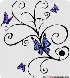 Pictures Butterfly Tattoos on Butterfly Tattoo Album 4 Tattoo Art Gallery Butterfly With Flowers Tattoo, Tribal Butterfly Tattoo, Butterfly Tattoo Cover Up, Butterfly Tattoo Designs, Butterfly Design, Flower Tattoos, Butterflies, Butterfly Colors, Butterfly Project