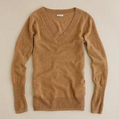 perfect camel colored v-neck sweater. i love v-necks.