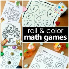 Math games for differentiated instruction in preschool, kindergarten, and first grade. Use for math centers, small group math activities, or morning work time. Preschool Lessons, Preschool Math, Numbers Preschool, Learning Numbers, Math Games, Preschool Activities, Ocean Activities, Apple Activities, Preschool Printables