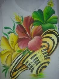 Resultado de imagen para imagenes de sombreros vueltiaos con tambor Rock Flowers, Fabric Painting, Hibiscus, Art Drawings, Craft Projects, Tropical, Floral, Plants, Image