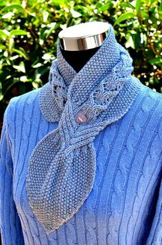 Knitting Pattern for Banyan Leaf Scarf by WhiteFlowerNeedle keyhole type neckwarmer on Etsy (affiliate link) tba