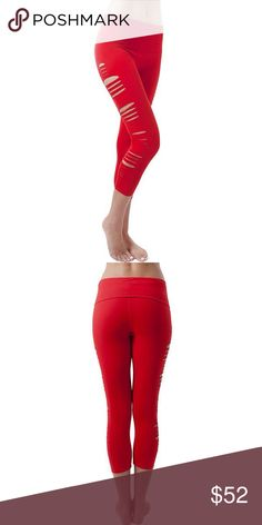 "Jalapeño Cut Capri Leggings Show off a little skin in these super fun, raw edge Jala Cut Capris. Perfect to wear during practice or out on the town.  Pre-shrunk, knit cotton yoga pant with a fold over waist. 92% Cotton, 8% Spandex. 21"" inseam. XS 0-2, Sm 2-4, Med 6-8, Lg 10-12. Care: Gentle cycle or hand wash, low heat or lay flat to dry. Jala Other"