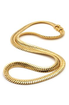 King Ice 14K Gold Thick Herringbone Chain