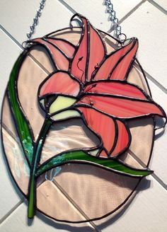 stained glass lilly