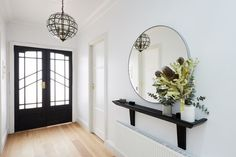Sarah and jason hallway decorating, hall of mirrors, hallway mirror, fron. Decor, Interior, Entry Hallway, Home Decor, House Interior, Room Decor, Hallway Mirror, Hallway Decorating, Home Deco