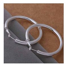 * Penny Deals * - IVYRISE Korean Style Sterling Silver Plated Glittering Bling Polished Rounded Hoops Earrings 925 >>> Find out more about the great product at the image link.