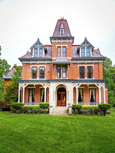This Victorian Looks Pretty Darn Good for 142 Years Old  1873 Cincinnati, OH mansion combines Second Empire with Stick ornament and full porch  The palatial seven-bedroom estate was first built as a wedding present from William Proctor (co-founder of Proctor & Gamble), to his daughter Olivia. In addition to the endlessly delightful touches, from the gabled brick facade to the hunter green vintage stove, the architects made some inspired choices.  For instance, one room contains 13 types of…