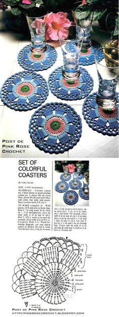 colorful crochet coasters!
