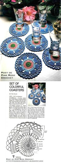colorful crochet coasters!