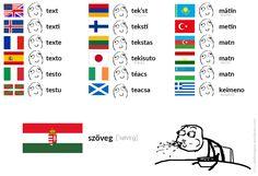 szöveg [ˈsøvɛɡ] – text #Hungarian #language #meme #text #magyar #nyelv #mém #szöveg Rage Faces, Learn German, Love Languages, Puns, True Stories, Make Me Smile, Funny Jokes, Funny Pictures, Writing