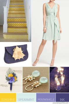 Sunshine, Spearmint, Periwinkle and Ink | Flights of Fancy. I love these colors! And this website is great for finding good color combos.