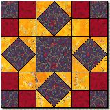 Like this pattern! the yellow gives a stained glass effect. Separate each block with black strips to finish the effect.