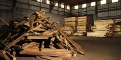 Understanding Reclaimed Wood: How the Salvaging Process Works Reclaimed Wood Floors, Wooden Flooring, Hardwood Floors, Wood Furniture, Modern Furniture, Nyc Projects, Wood Images, Scrap Material, Into The Woods